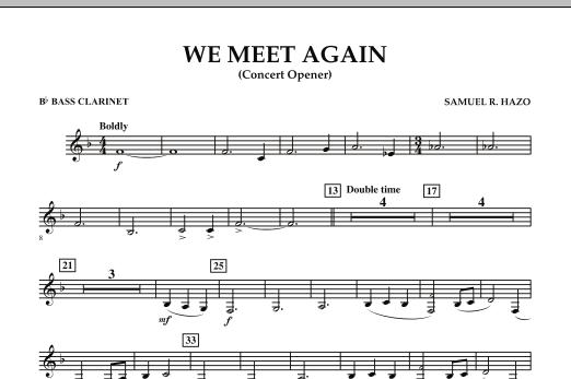 We Meet Again - Bb Bass Clarinet (Concert Band)