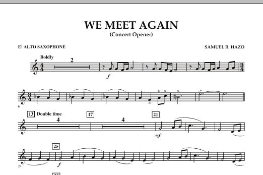 We Meet Again - Eb Alto Saxophone (Concert Band)