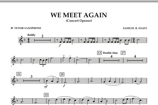 We Meet Again - Bb Tenor Saxophone (Concert Band)