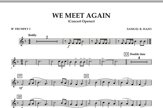 We Meet Again - Bb Trumpet 2 (Concert Band)