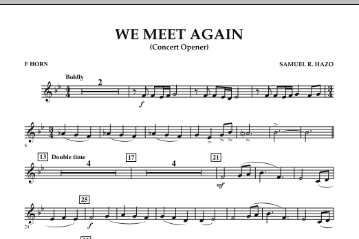 We Meet Again - F Horn (Concert Band)