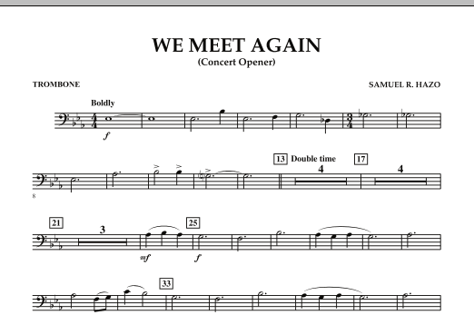 We Meet Again - Trombone (Concert Band)