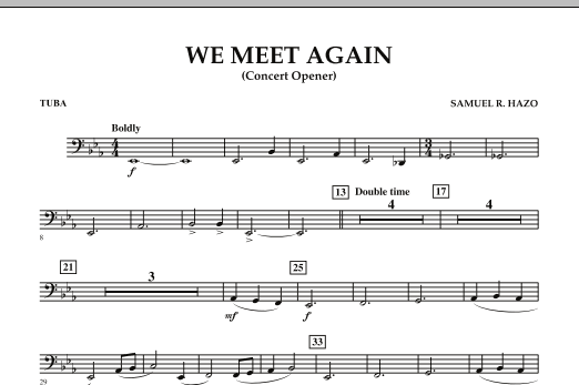 We Meet Again - Tuba (Concert Band)