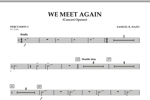 We Meet Again - Percussion 2 (Concert Band)