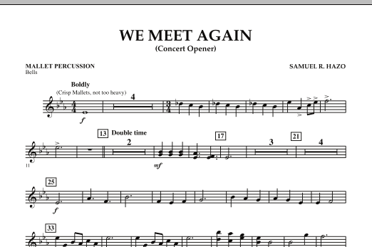 We Meet Again - Mallet Percussion (Concert Band)