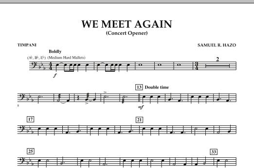 We Meet Again - Timpani (Concert Band)