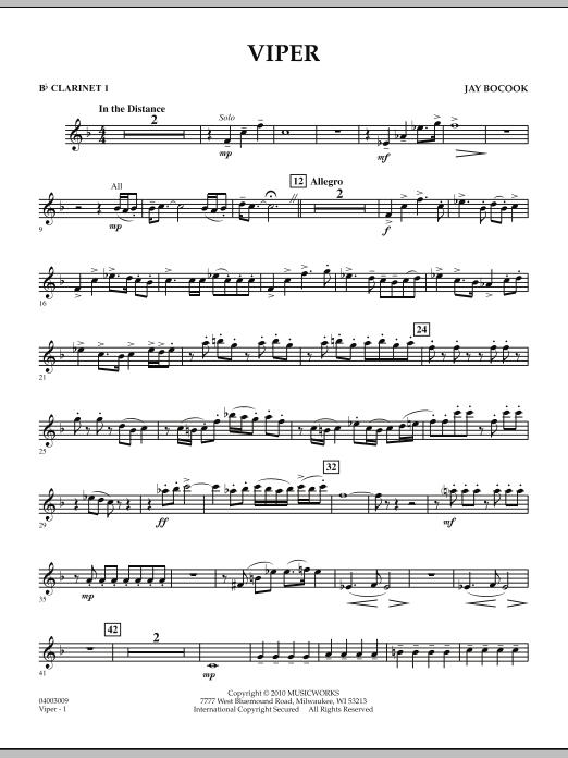 Viper - Bb Clarinet 1 (Concert Band)