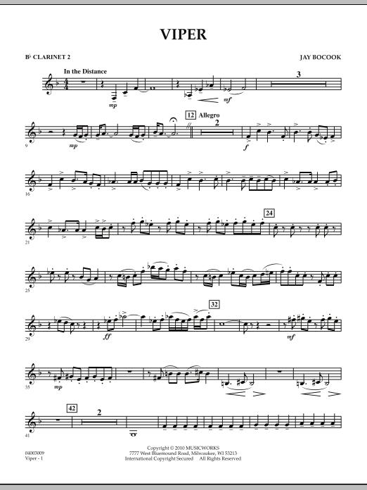 Viper - Bb Clarinet 2 (Concert Band)