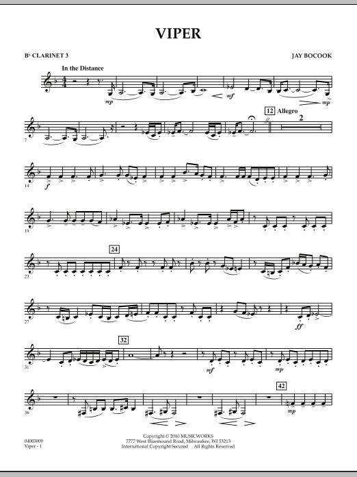 Viper - Bb Clarinet 3 (Concert Band)