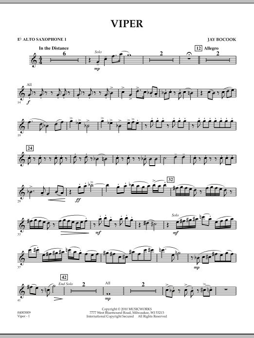 Viper - Eb Alto Saxophone 1 (Concert Band)