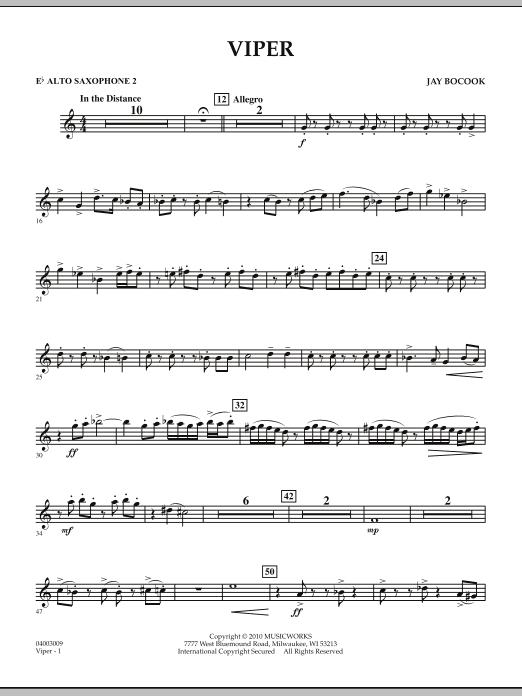 Viper - Eb Alto Saxophone 2 (Concert Band)
