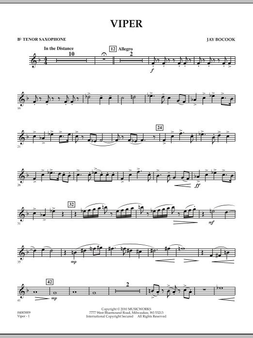 Viper - Bb Tenor Saxophone (Concert Band)