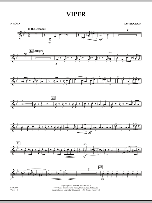 Viper - F Horn (Concert Band)