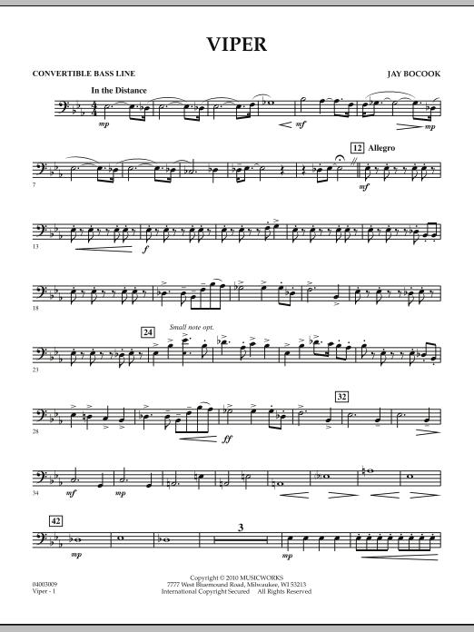 Viper - Convertible Bass Line (Concert Band)