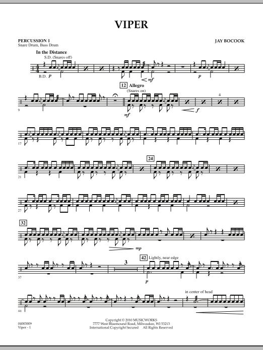 Viper - Percussion 1 (Concert Band)