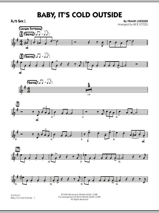 Baby, It's Cold Outside - Alto Sax 1 (Jazz Ensemble)
