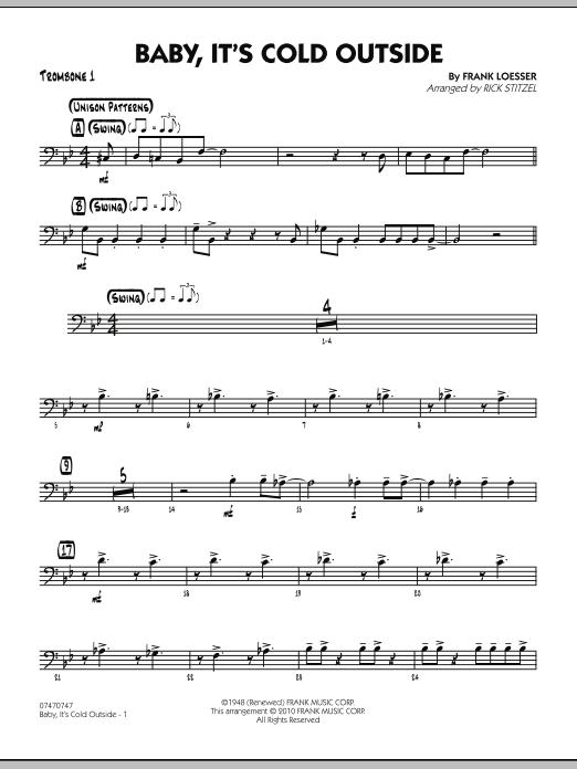 Baby, It's Cold Outside - Trombone 1 (Jazz Ensemble)