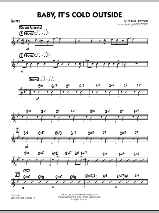 Baby, It's Cold Outside - Guitar (Jazz Ensemble)