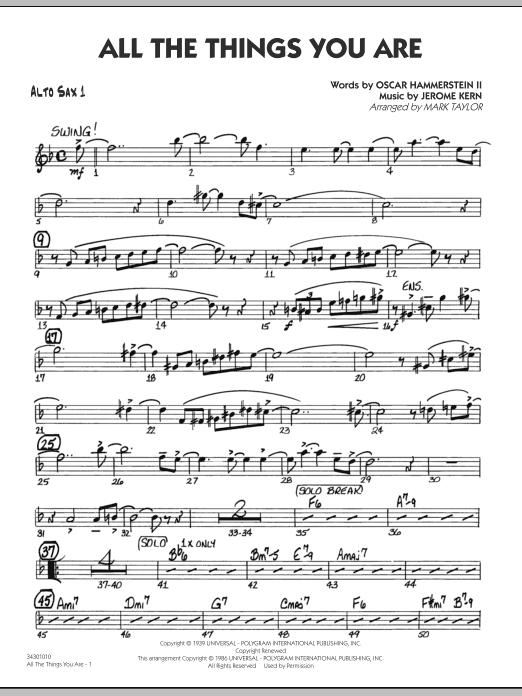 All The Things You Are - Alto Sax 1 (Jazz Ensemble)