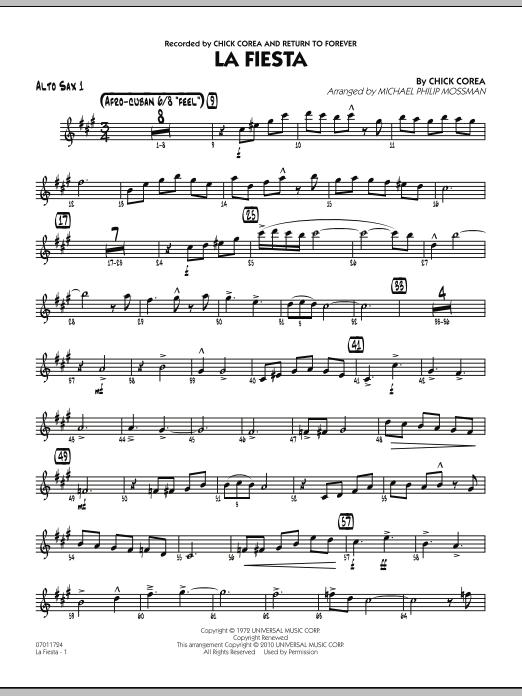 La Fiesta - Alto Sax 1 (Jazz Ensemble)