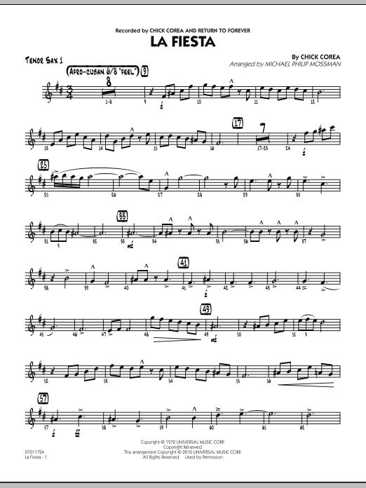 La Fiesta - Tenor Sax 1 (Jazz Ensemble)