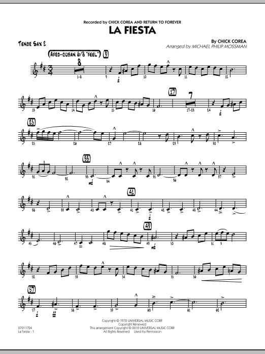 La Fiesta - Tenor Sax 2 (Jazz Ensemble)