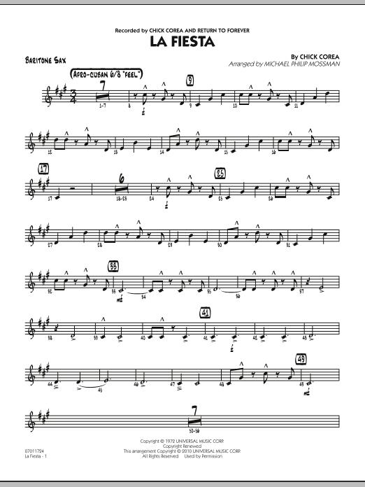 La Fiesta - Baritone Sax (Jazz Ensemble)
