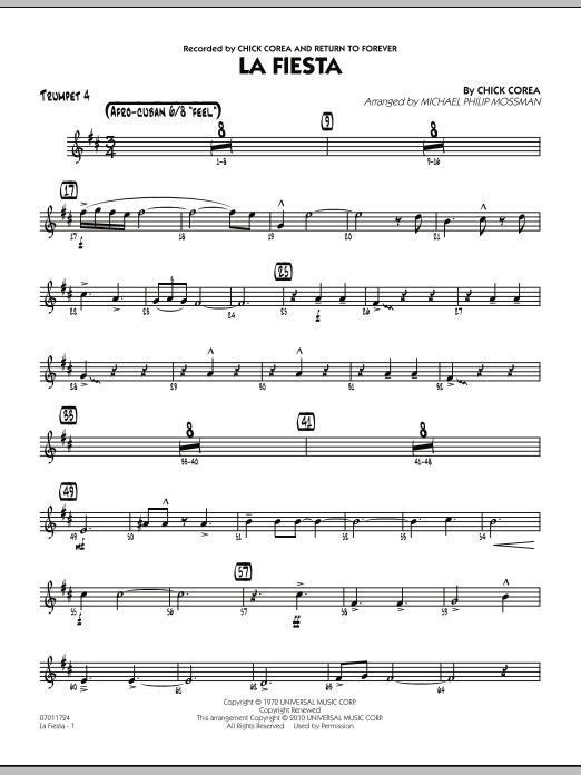 La Fiesta - Trumpet 4 (Jazz Ensemble)
