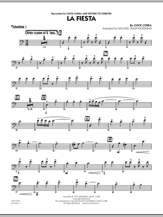 La Fiesta - Trombone 1 (Jazz Ensemble)