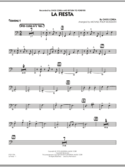 La Fiesta - Trombone 4 (Jazz Ensemble)