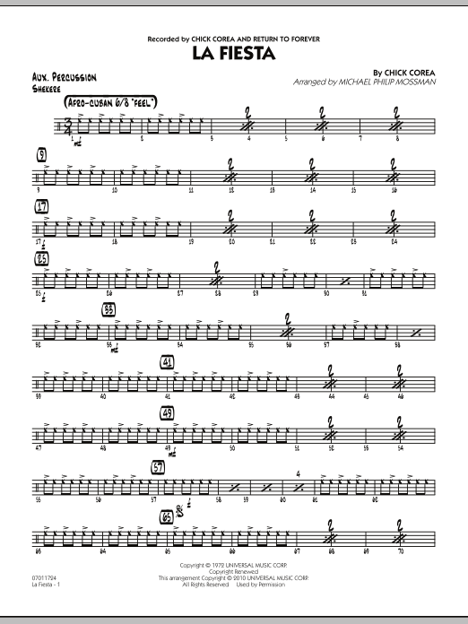 La Fiesta - Aux Percussion (Jazz Ensemble)