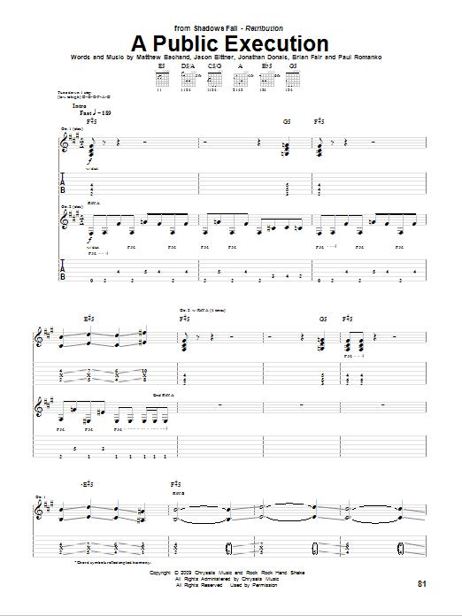 A Public Execution (Guitar Tab)
