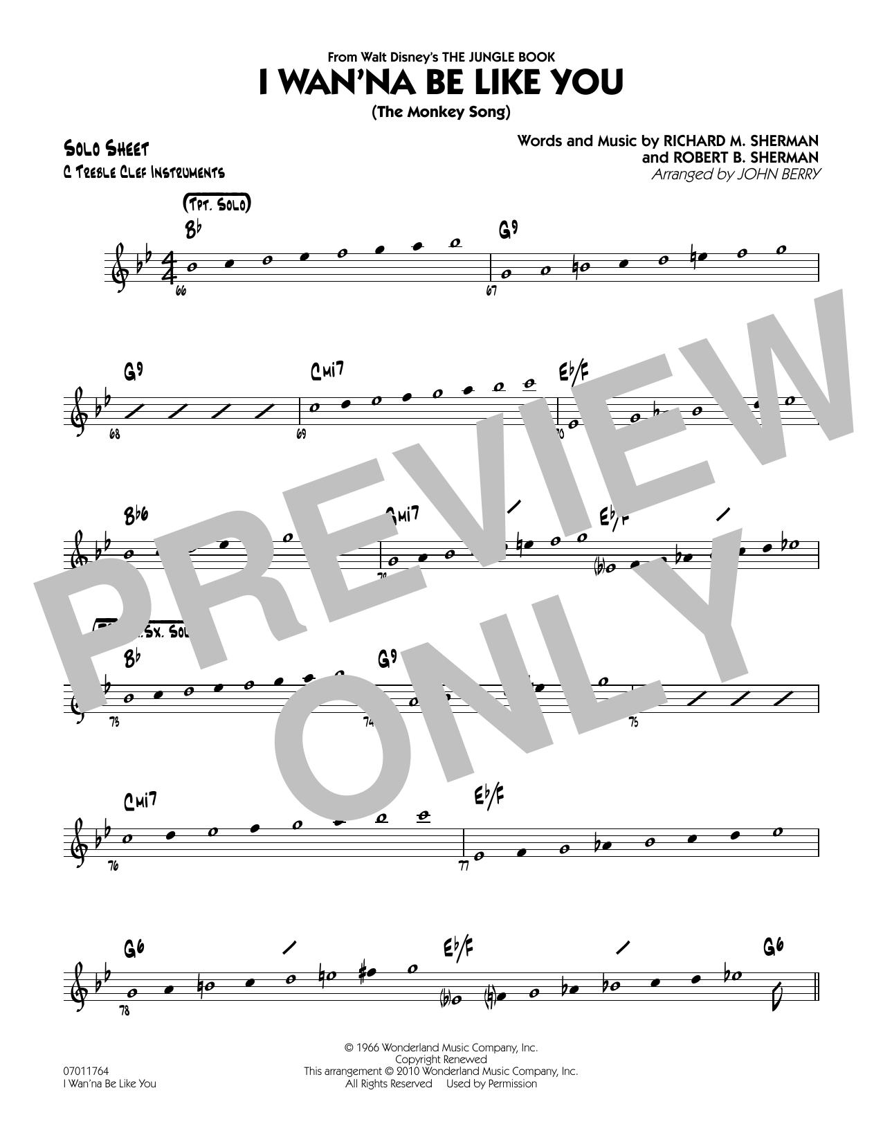 I Wan'na Be Like You (The Monkey Song) - C Solo Sheet (Jazz Ensemble)