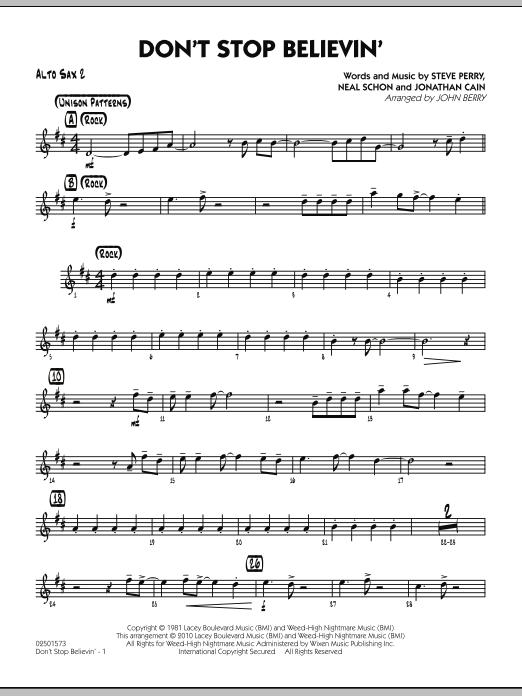Don't Stop Believin' - Alto Sax 2 (Jazz Ensemble)