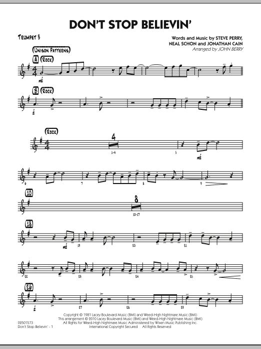 Don't Stop Believin' - Trumpet 3 (Jazz Ensemble)
