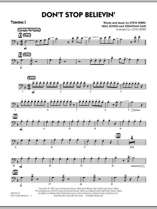 Don't Stop Believin' - Trombone 2 (Jazz Ensemble)