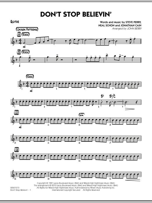 Don't Stop Believin' - Guitar (Jazz Ensemble)