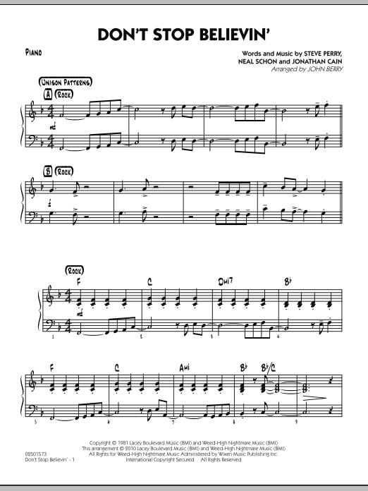 Don't Stop Believin' - Piano (Jazz Ensemble)