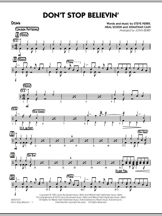 Don't Stop Believin' - Drums (Jazz Ensemble)
