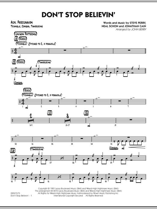 Don't Stop Believin' - Aux Percussion (Jazz Ensemble)
