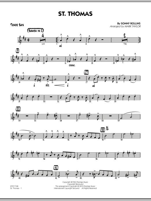 St. Thomas - Tenor Sax (Jazz Ensemble)
