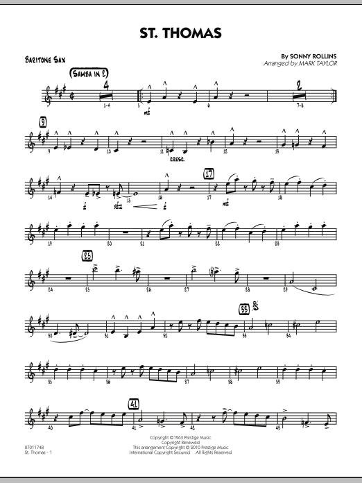 St. Thomas - Baritone Sax (Jazz Ensemble)