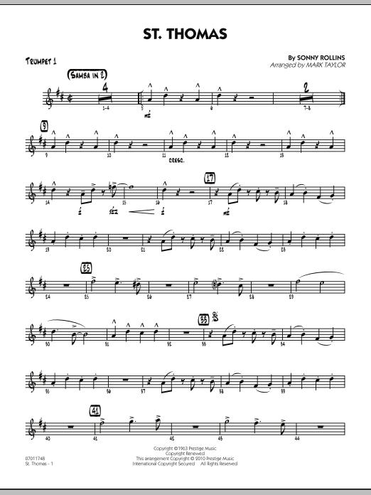 St. Thomas - Trumpet 1 (Jazz Ensemble)