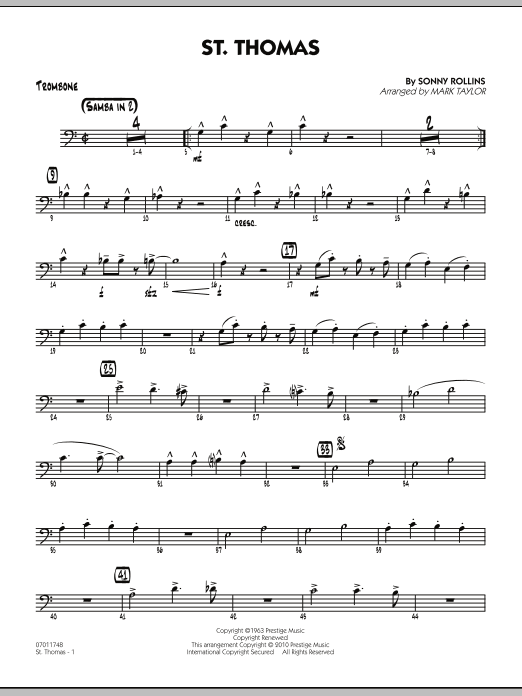 St. Thomas - Trombone (Jazz Ensemble)
