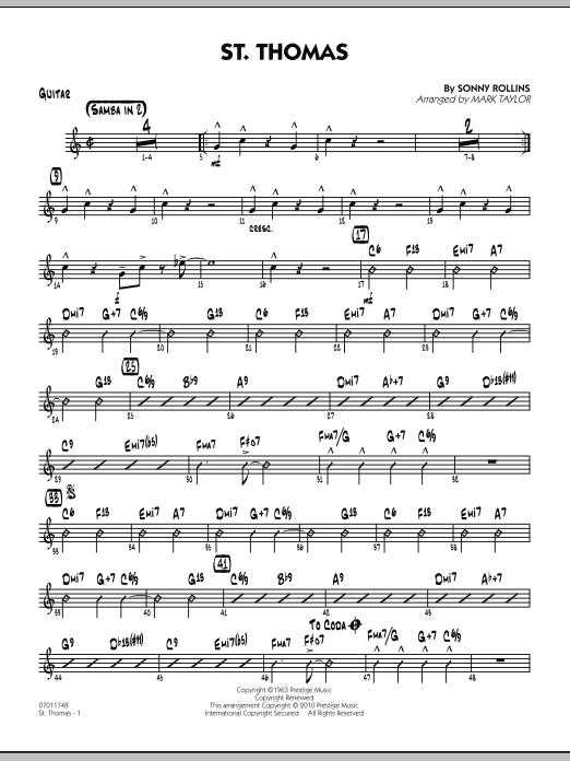 St. Thomas - Guitar (Jazz Ensemble)