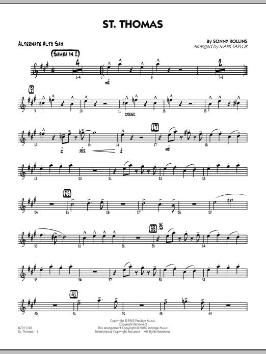 St. Thomas - Alternate Alto Sax (Jazz Ensemble)