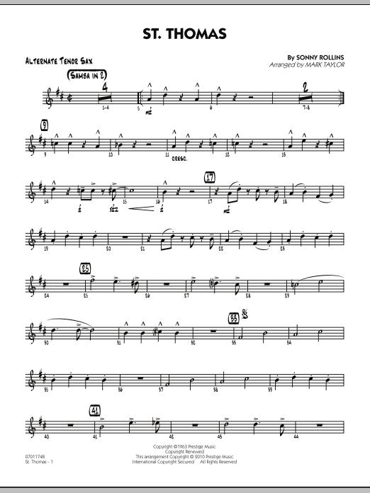 St. Thomas - Alternate Tenor Sax (Jazz Ensemble)