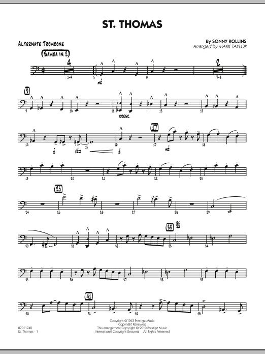 St. Thomas - Alternate Trombone (Jazz Ensemble)