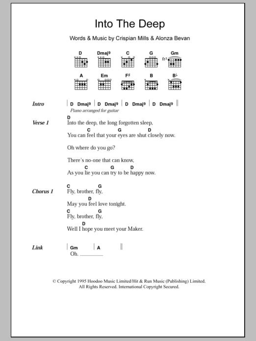 Into The Deep Sheet Music