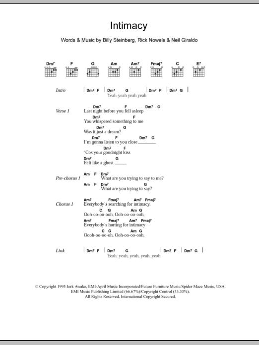 Intimacy Sheet Music